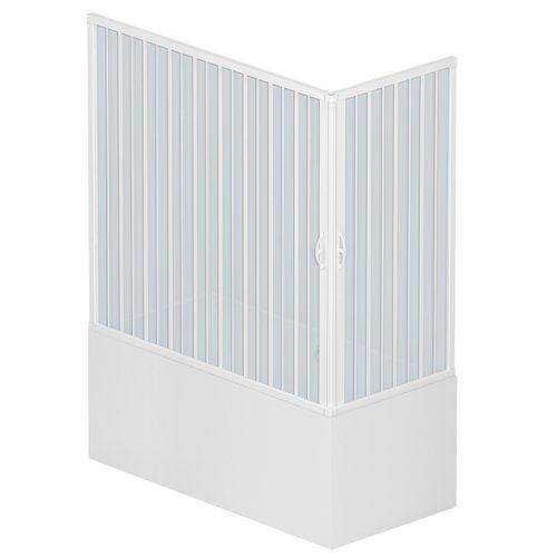 dos puertas Roll plast bgal1concc28170/de cabinas de ducha puerta tama/ño: 70/x 170/x h 150/cm de PVC apertura en la esquina color blanco