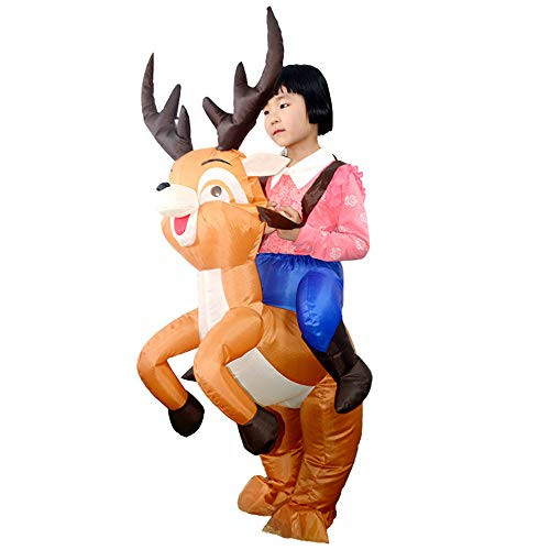 Livoty Party Uniforms Cosplay Clothing Inflatable Carnival Funny Costumes Elk Cosplay Toy Party Props (Brown) ()