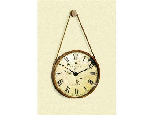 Bassett Mirror Watchman Clock, Burnished Gold