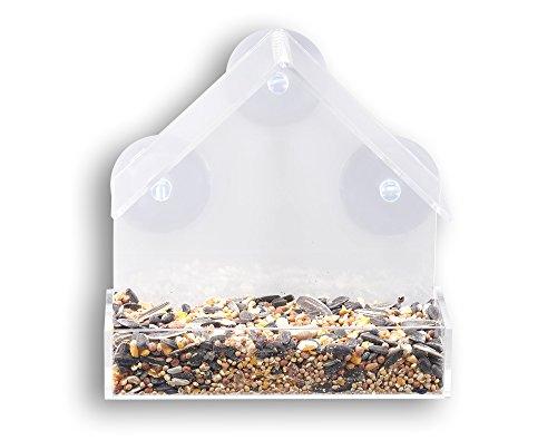 GrayBunny GB-6842 Window Bird Feeder, Clear Thick Acrylic - Carton Window