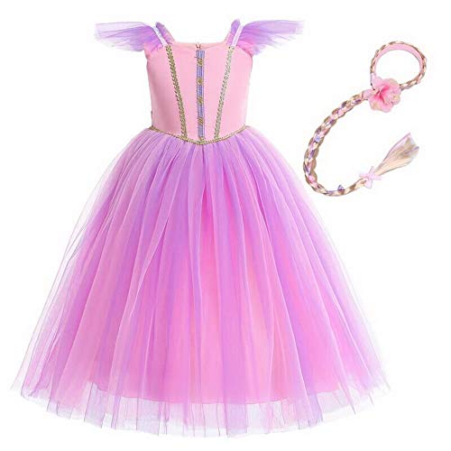 Princess Aurora Rapunzel Halloween Costume Girls Dress Ceremony