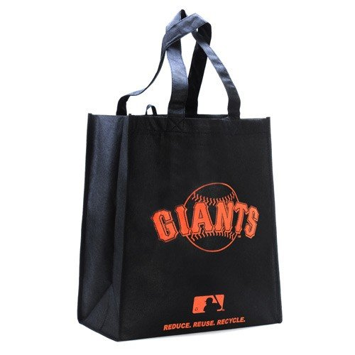 FOCO San Francisco Giants Printed Non-Woven Polypropylene Reusable Grocery Tote Bag