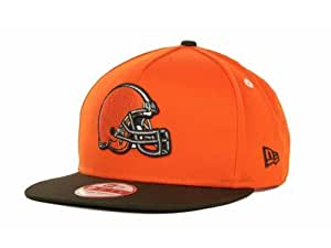 New Era NFL 9Fifty Turnover Snapback 2 Tone Cap Cleveland Browns (Orange/Brown, OSFM)