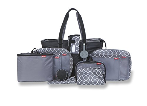 Baby Boom Pack Right Complete Diaper Bag Organizer Kit - Includes Diaper Bag Tote Plus Pack Right Food, Clothes, and Linen Organizer Kits