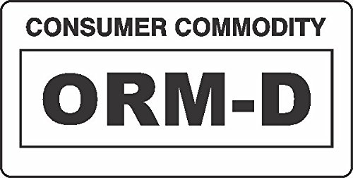 picture relating to Orm D Label Printable titled GC Labels-ORM-D-WHITE, ORM D Purchaser Commodity White Label
