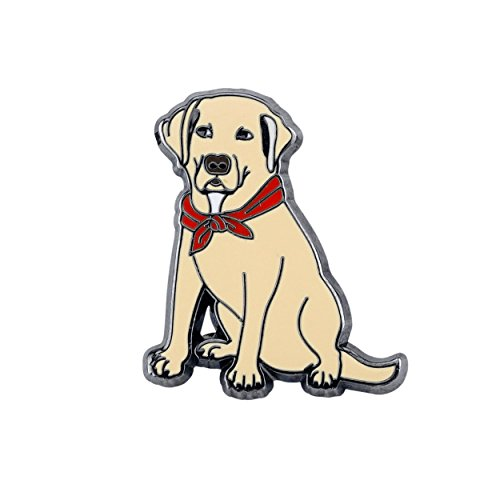 Pin Pushers Labrador Retriever Dog Enamel Lapel Pin Brooch (Jewelry Pin Labrador)