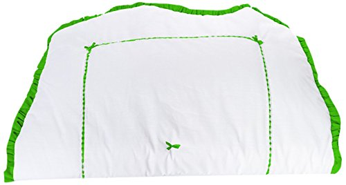Baby Doll Bedding Unique Crib Comforter, Green Apple