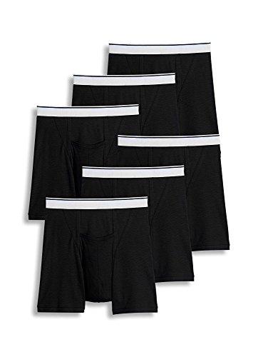 Jockey Men's Underwear Pouch Boxer Brief - 6 Pack, Black, L (Jockey Pouch)