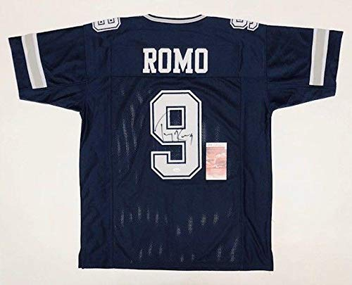 Tony Romo Autographed Jersey - Pro Style W Witnessed Coa #wpp189487 - JSA Certified - Autographed NFL Jerseys