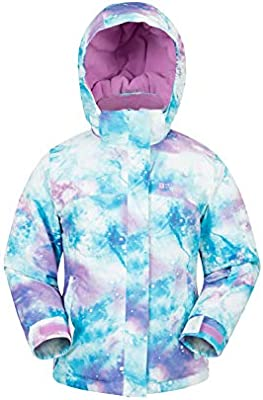 Mountain Warehouse Chaqueta de esquí Impresa para niños encantados - Cálido, Falda de Nieve, suéter Forrado con vellón de Invierno - para niños, niñas