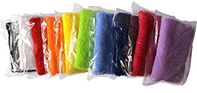 ColorYourLife 10 Pairs (20 Pieces) Colorful Sports Wristbands Wrist Sweatbands Wrist Sweat Bands