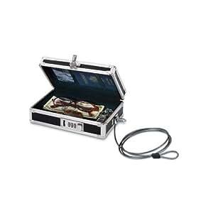 Vaultz Locking Mini Cash Box, 8.25x 5.75x 2.75 Inches, Black (VZ00075)