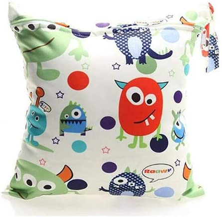 Diaper Pouch with two zipper Diaper Nappy Pouch for Baby Toddler Kids