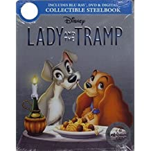 Lady and the Tramp Signature Collection SteelBook Blu-ray/DVD + Digital Disney