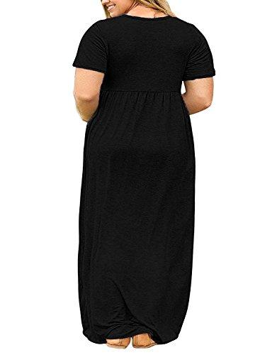 7c2f0984015 Rotita Womens Plus Size Dresses Casual Summer Maternity Empire Waist Short  Sleeve Maxi Dress with Pockets