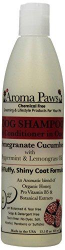 xury Dog Shampoo & Conditioner in One Pomegranate Cucumber: Fluffy Shiny Coat Formula (Paws Dog Shampoo)