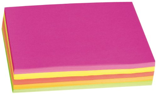 Pacon 8-1/2 X 11 Inches Neon Bond Paper, Assorted Five Colors, 250 Sheets (132966)
