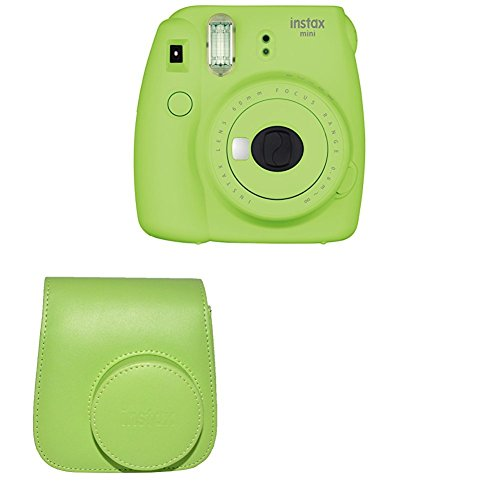 Fujifilm Instax Mini 9 Instant Camera with Instax Groovy Camera Case (Lime Green)