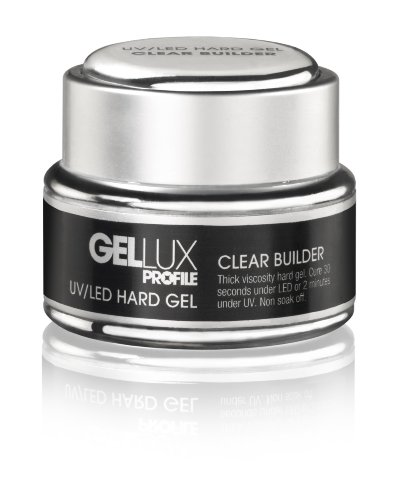 Salon System Profile Gellux UV/LED Hard Gel Clear Builder 15ml