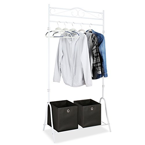 HOMFA Metal Garment Rack Clothing Racks with Bo...