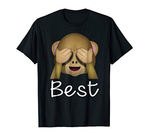 - Best Friends Forever T-Shirt For 3 Monkey Emoji #1