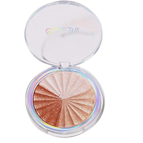 NOGOQU 3 in 1/5 in 1 Shimmery Highlighter Vegan, Cruelty-Free Baked Powder that Shapes, Contours & Highlights-Net Weight:8g (A)