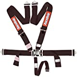 RaceQuip 711001 Black SFI 16.1 Latch and Link 5-Point Safety Harness Set with Individual Shoulder Belt