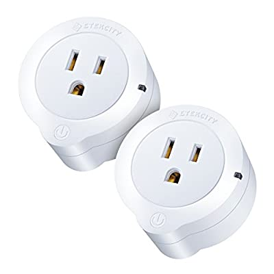 Etekcity 2 Pack Voltson Wi-Fi Smart Plug Mini Outlet with Energy Monitoring, No Hub Required, ETL Listed, White, Works with Alexa and Google Assistant