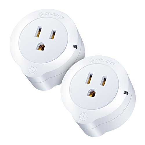 Etekcity WiFi Smart Plug, Voltson Mini Outlet with Energy Monitoring (2-Pack), No Hub Required, ETL Listed, White, Works with Alexa, Google Home and IFTTT