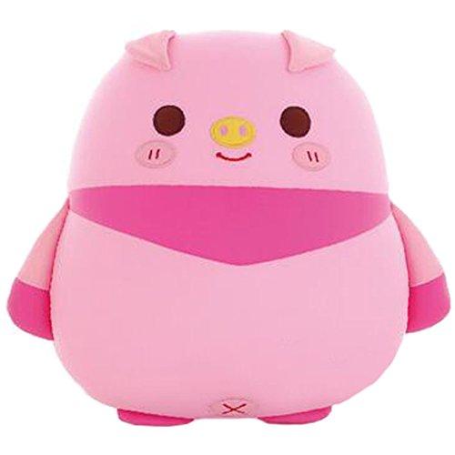 Cadeau d'anniversaire pour enfant Animal Nano Foam Pillow pour pellicules de poupée Lion Owl Tattoo Soft Toy, Rose (Porc)
