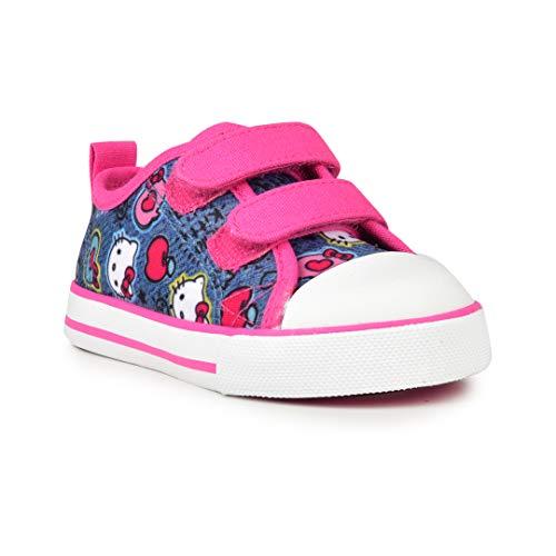 Hello Kitty Lil Katherine Fashion Sneaker Velcro Blue Denim 6 Toddler