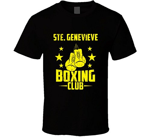 (Ste. Genevieve Missouri Boxing Club Cool Sports Fitness T Shirt L Black)