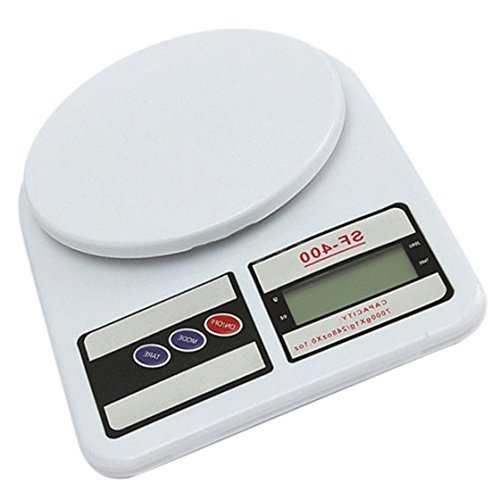 Amazon.com: Electronic Scale - TOOGOO(R)7 Kg/0.1g LCD Digital Kitchen Scale Weigh Accurate Dessert Fruit Weight, White: Kitchen & Dining
