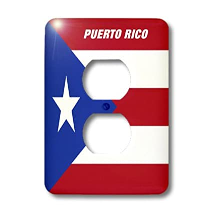 3dRose lsp/_45062/_6 State Flag Of Puerto Rico Outlet Cover