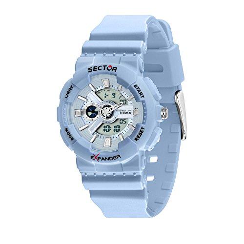 SECTOR Men's Ex-15 Analog-Quartz Sport Watch with Plastic Strap, Blue, 18 (Model: R3251515003