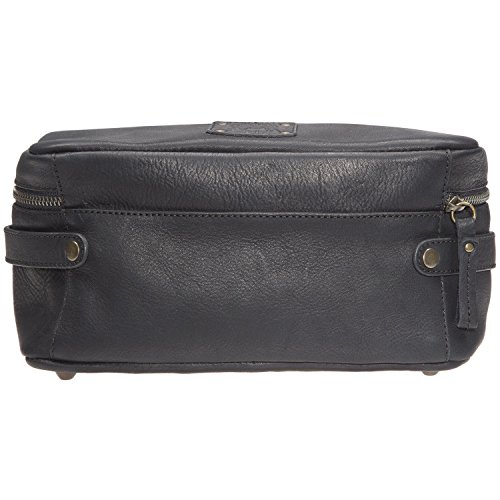Will Leather Goods Men's Desmond Leather Travel Case - Black by Will Leather Goods