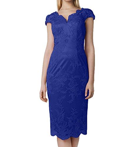 Blau Kurz Damen Kleider Abendkleider Brautmutterkleider Spitze Rosa Kurzarm Knielang Rosa Charmant Jugendweihe Royal 4TwOnC7xxq