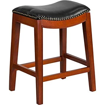 Cool Amazon Com Parkside 26 In High Backless Light Cherry Wood Unemploymentrelief Wooden Chair Designs For Living Room Unemploymentrelieforg