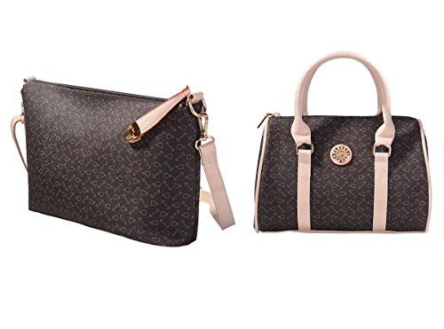 9a6ad91c6f Coofit Totes 6 Pieces Set Women Handbag Cross-Body Pouch Purse Wallets  Coffee