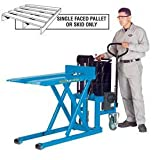 Bishamon SkidliftTM High Lift Skid Truck, Battery Powered, 1100 Lb. Cap., 27 X 42.5 Forks