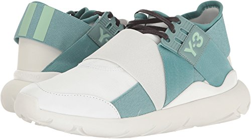 adidas Y-3 by Yohji Yamamoto Women's Y-3 Qasa Elle Lace FTW White/Vapour Steel/Crystal White Athletic Shoe