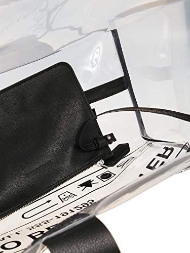 Dsquared2 Luxury Fashion Femme SPW002235702583M1651 Noir Pvc Sac Tote   Printemps-été 20