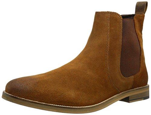 Crevo Men's Denham Chelsea Boot, Chestnut Suede, 13 M US