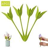 Napkin Holder for Tables Flowers Bloom Set of 4 for Making Original Table Arrangements (Green)