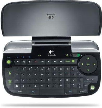 Logitech Dinovo Mini - Teclado inalámbrico con TouchPad Incorporado, Color Negro/Gris - QWERTY español