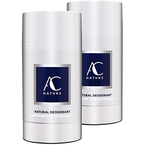 Aluminum Alcohol - AC NATURE 100% Natural Lavender Deodorant Stick – Aluminum Free, Alcohol Free, and Paraben Free – Scented with Organic Essential Oils For Women & Men | 2.6 oz. (Regular – Original Strength, 2pc)