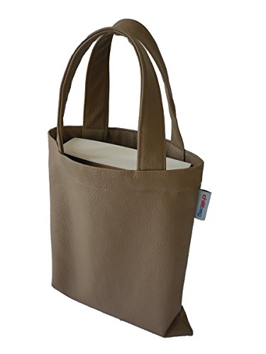 Atosa 97141 - La bolsa de libros de cuero, 20 x 24 cm, de color: Beige