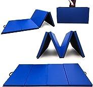 "Angel Canada 4 Panel 45''x 92''x 2"" PU Leather Folding Gymnastics Gym Fitness Exercise Ae"