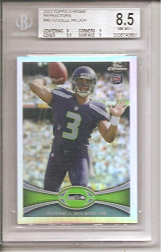 Russell Wilson Seattle Seahawks 2012 Topps Chrome Rookie Football Card #40 . . GRADED BGS 8.5 ()