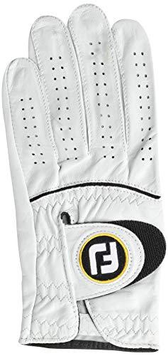 FootJoy Men's StaSof Golf Glove White Medium/Large, Worn on Left Hand